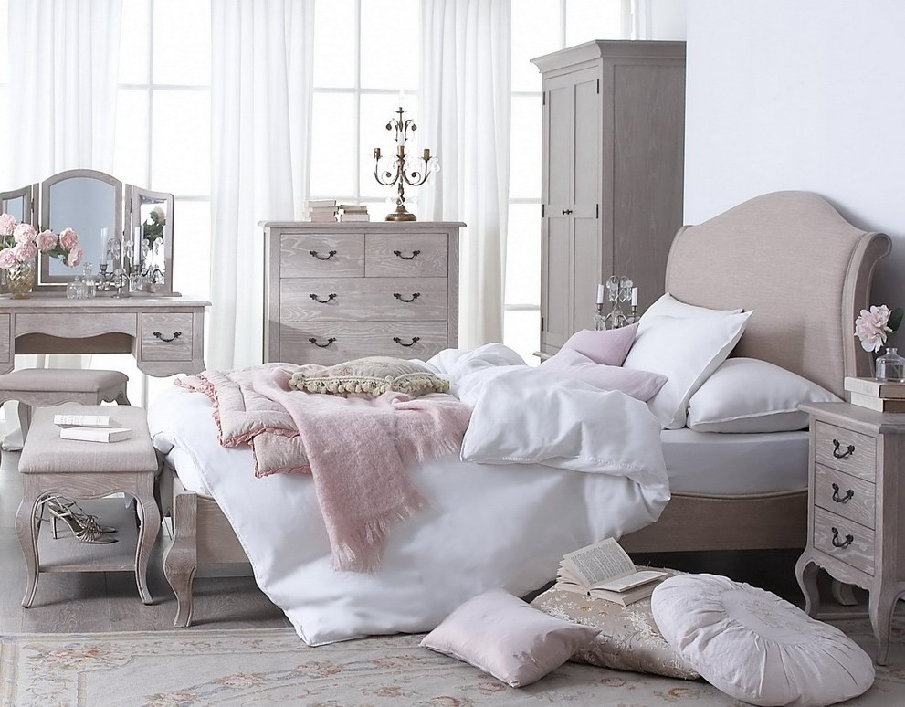 Farnborough Oak French Style Bedroom Range | Hallowood