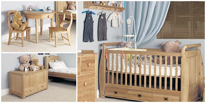 Amelie solid oak children 39 s bedroom furniture hallowood Unfinished childrens bedroom furniture