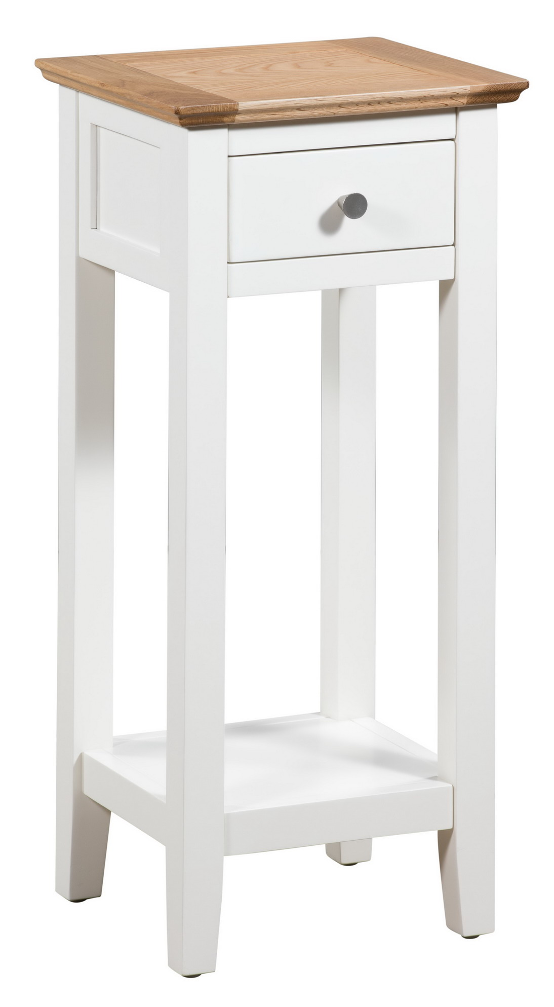 Small White Painted Oak Console Table