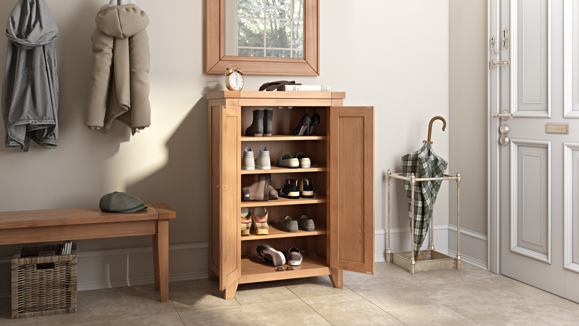 Cotswold Shoe Storage Cupboard & Cotswold Shoe Storage Cupboard | Hallowood