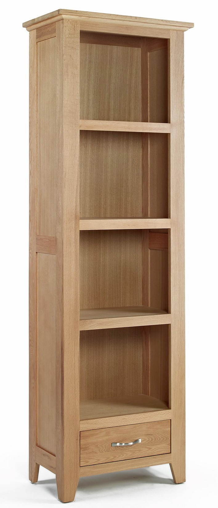 Camberley Oak Small Bookcase With Bottom Drawer Camberley