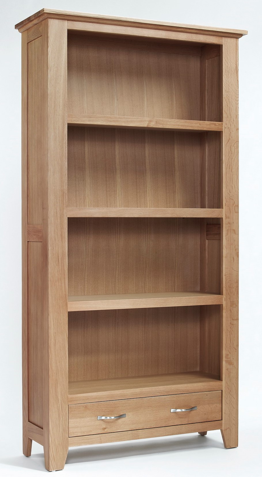 Camberley Oak Large Bookcase With Bottom Drawer Bookcases
