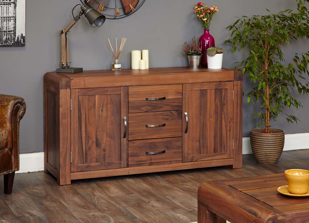 Shiro Walnut Large Sideboard Sideboards Amp Tops Dining