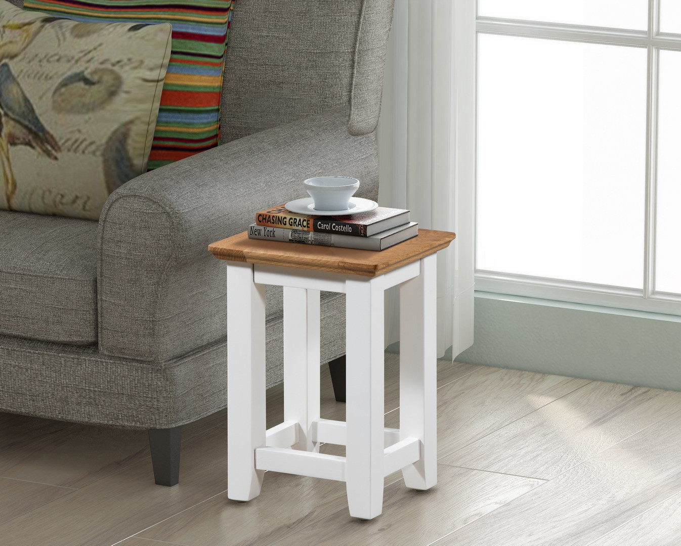 Small Solid Oak Side Tables