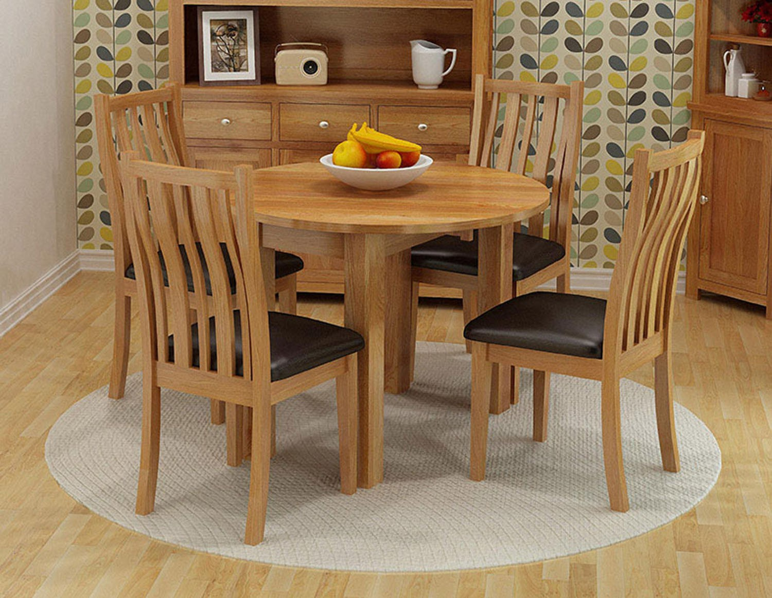 Great Waverly Oak Drop Leaf Round Table