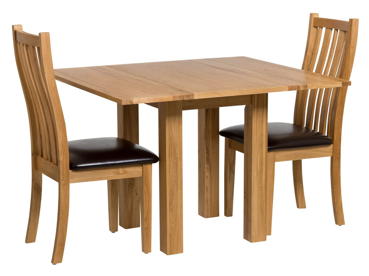 Waverly oak small extending table with folding leaves for Folding dining room table