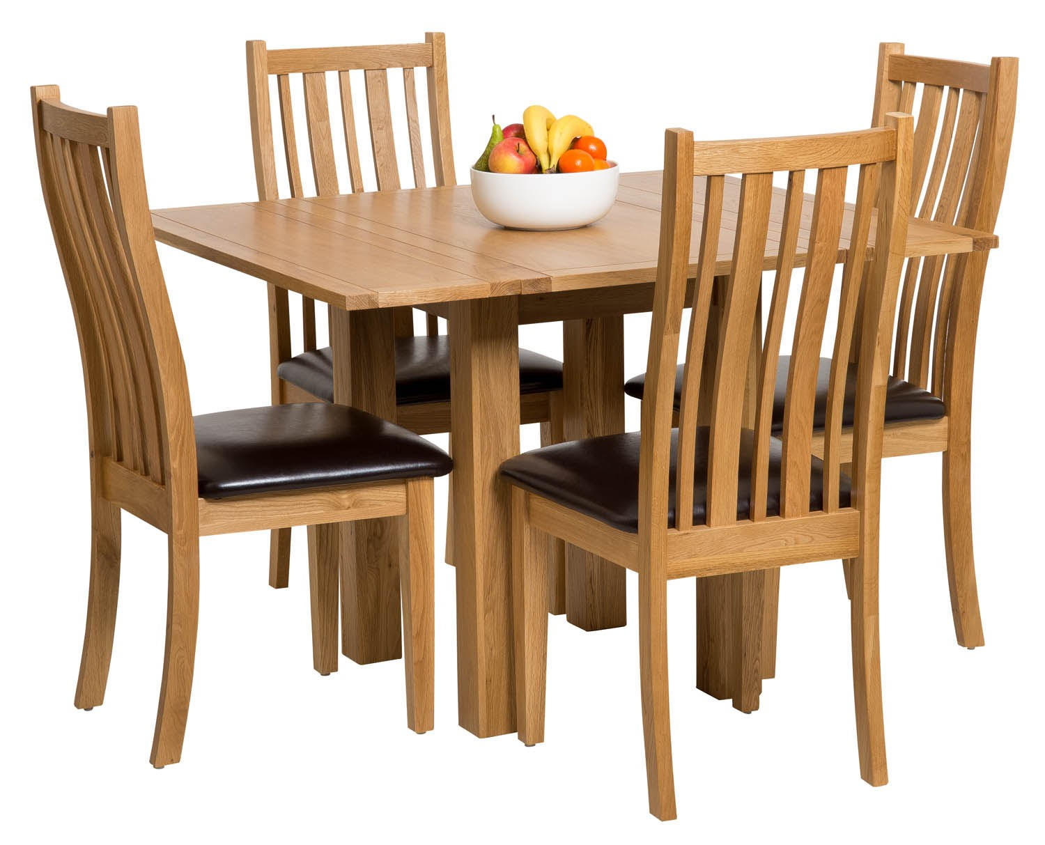Waverly oak small extending table with folding leaves hallowood - Small folding dining table ...