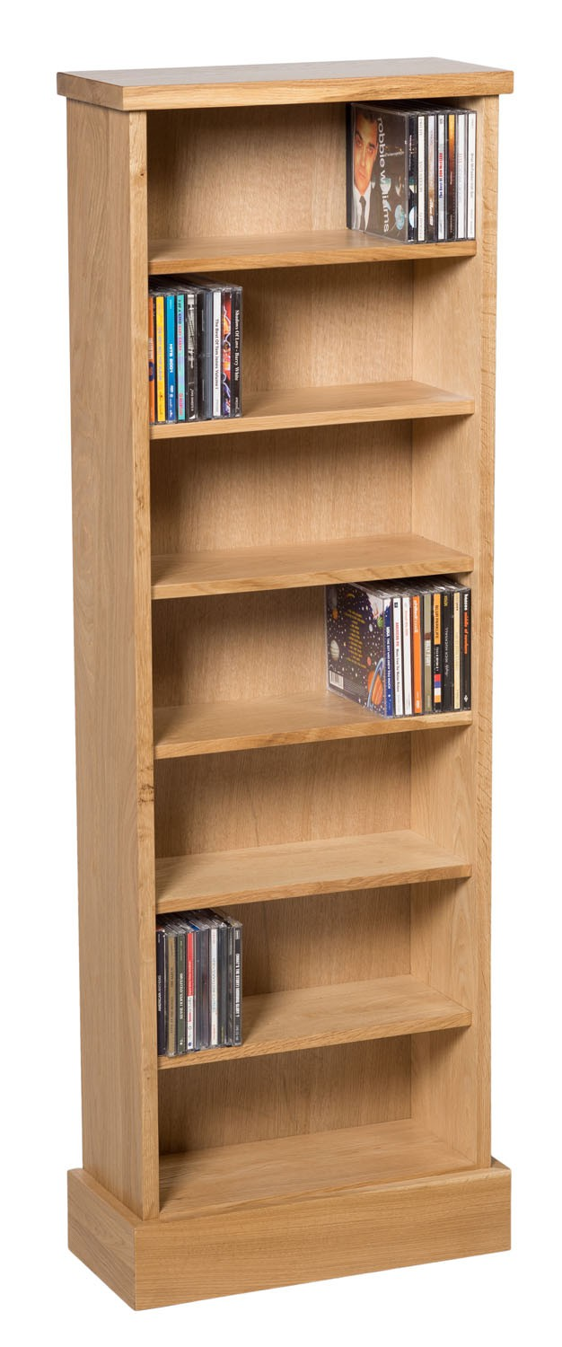 Oak Cd Rack Large Cd Storage Option For The Home Hallowood