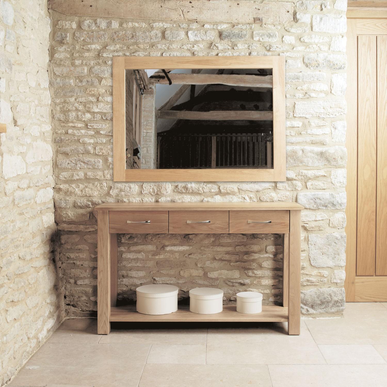 Light Oak Living Room Furniture Mobel Oak Console Table Mobel Solid Oak Range Shop By Range