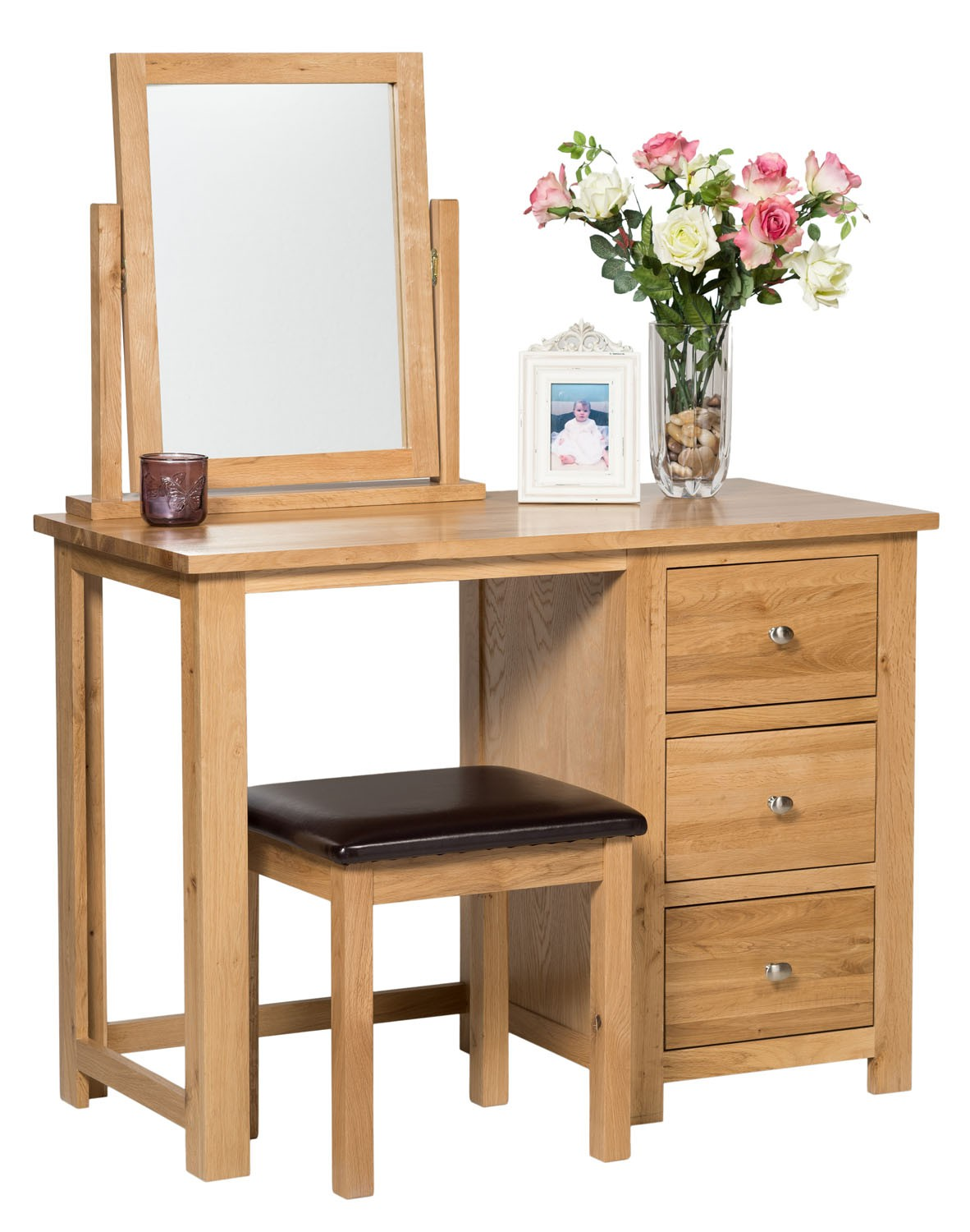 Dressing Table With Mirror ~ Waverly oak dressing table swing vanity mirror hallowood