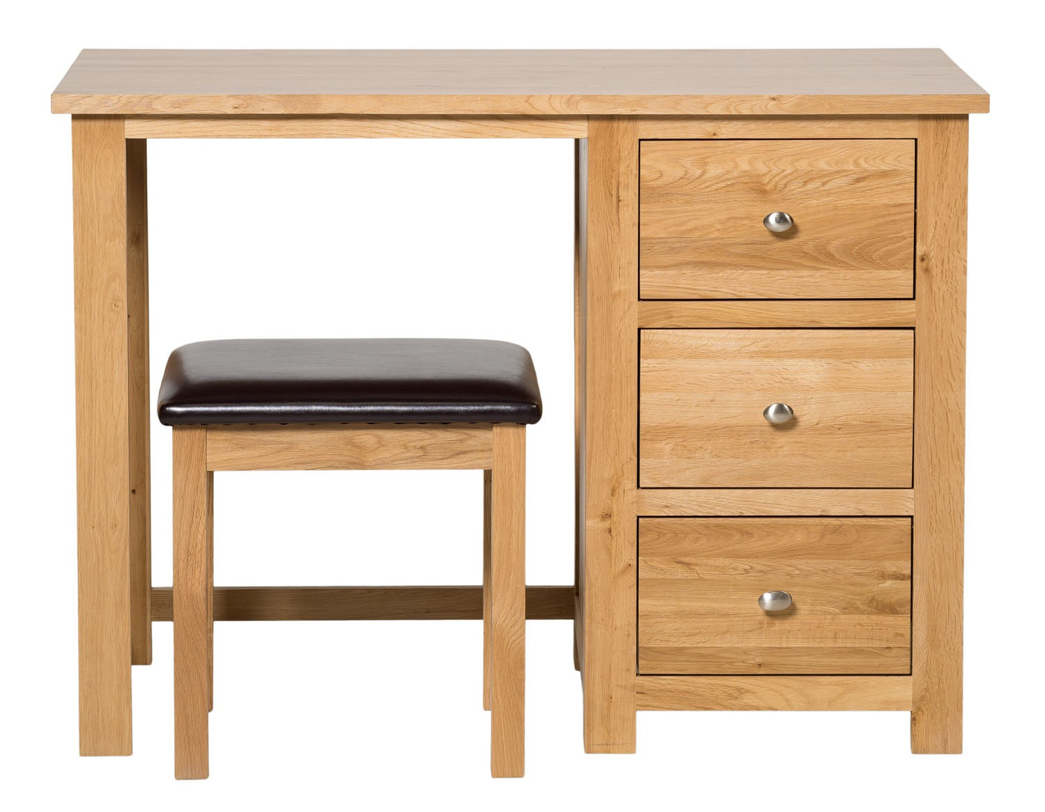 Waverly oak drawer dressing table with stool hallowood
