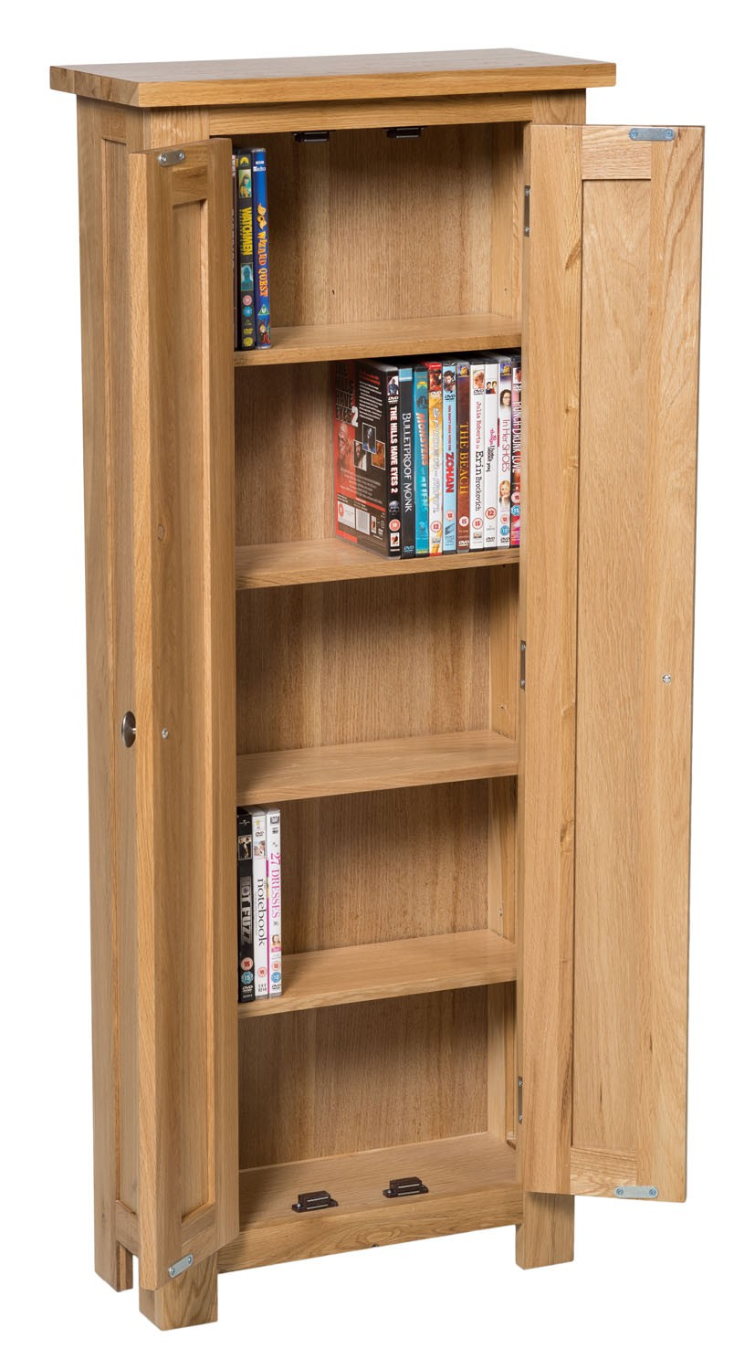 Waverly Oak 2 Door Dvd Storage Cupboard Cabinet Hallowood