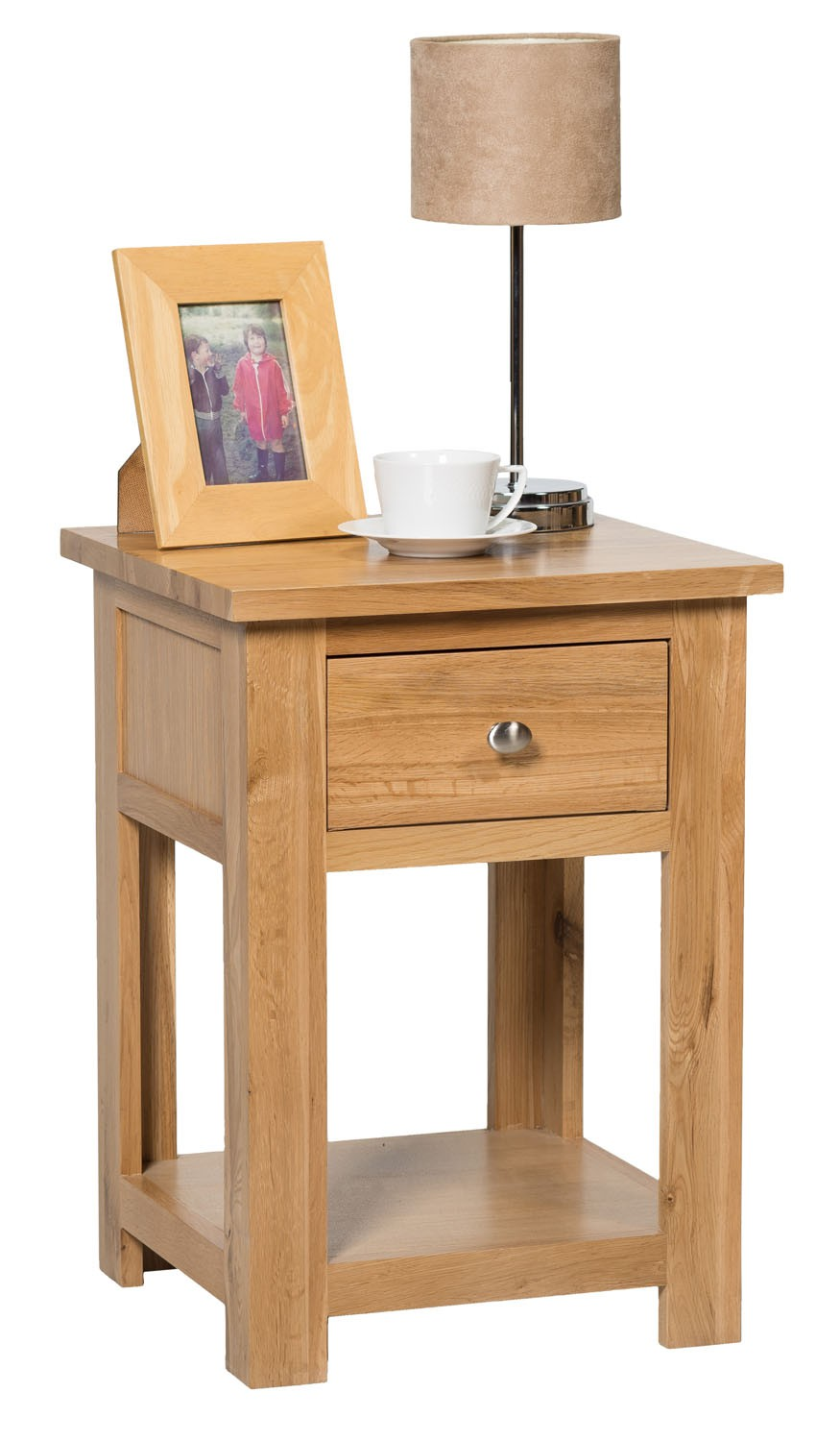 Waverly oak lamp side table with drawer hallowood waverly oak lamp table with drawer mozeypictures Choice Image