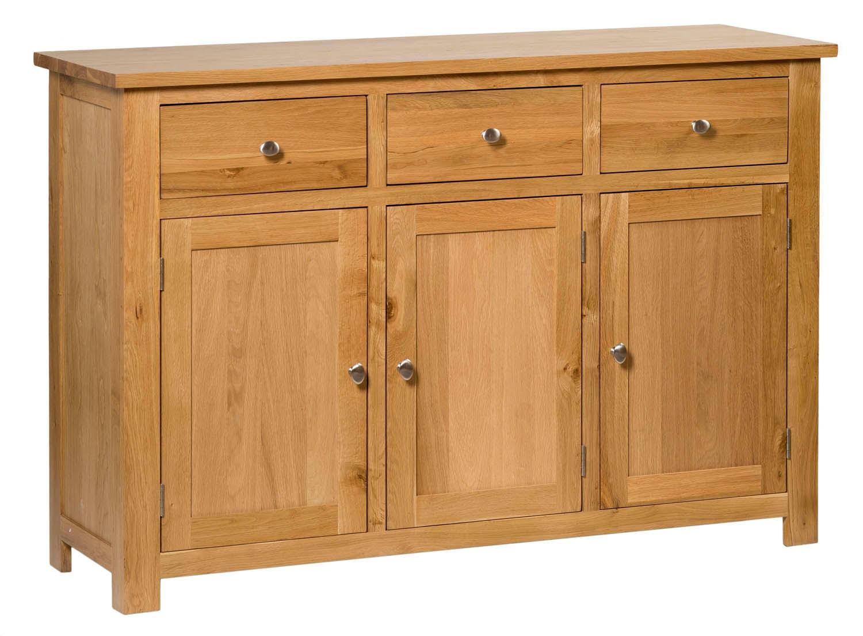 Waverly Oak Large Sideboard 3 Drawer 3 Doors Hallowood