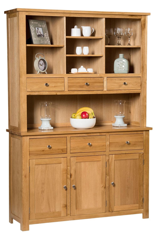 Waverly Oak Large Welsh Dresser Cabinet Hallowood