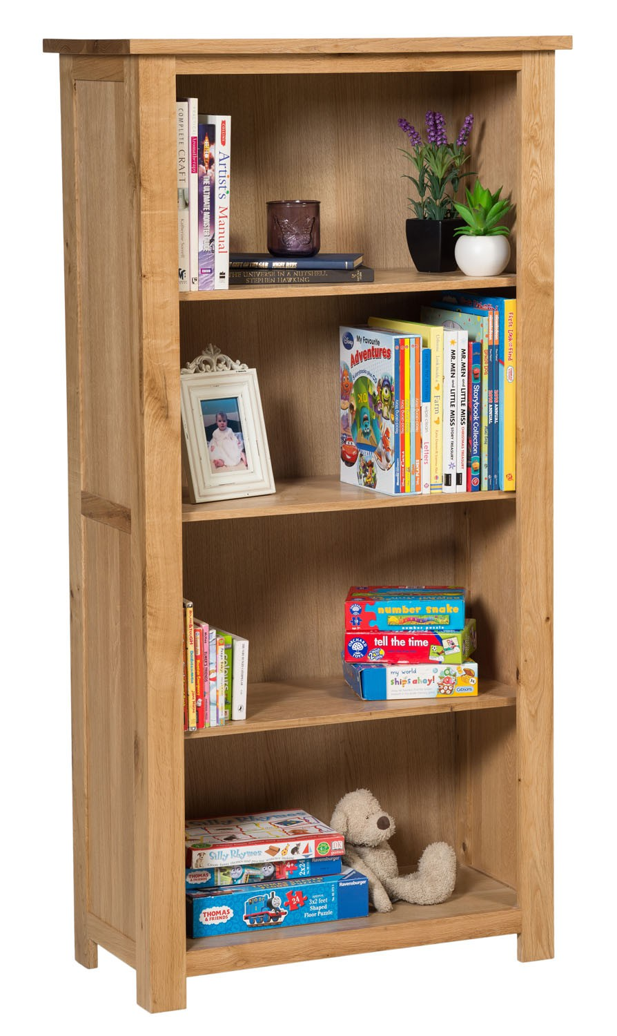 Waverly Oak Bookcase with Three Shelves