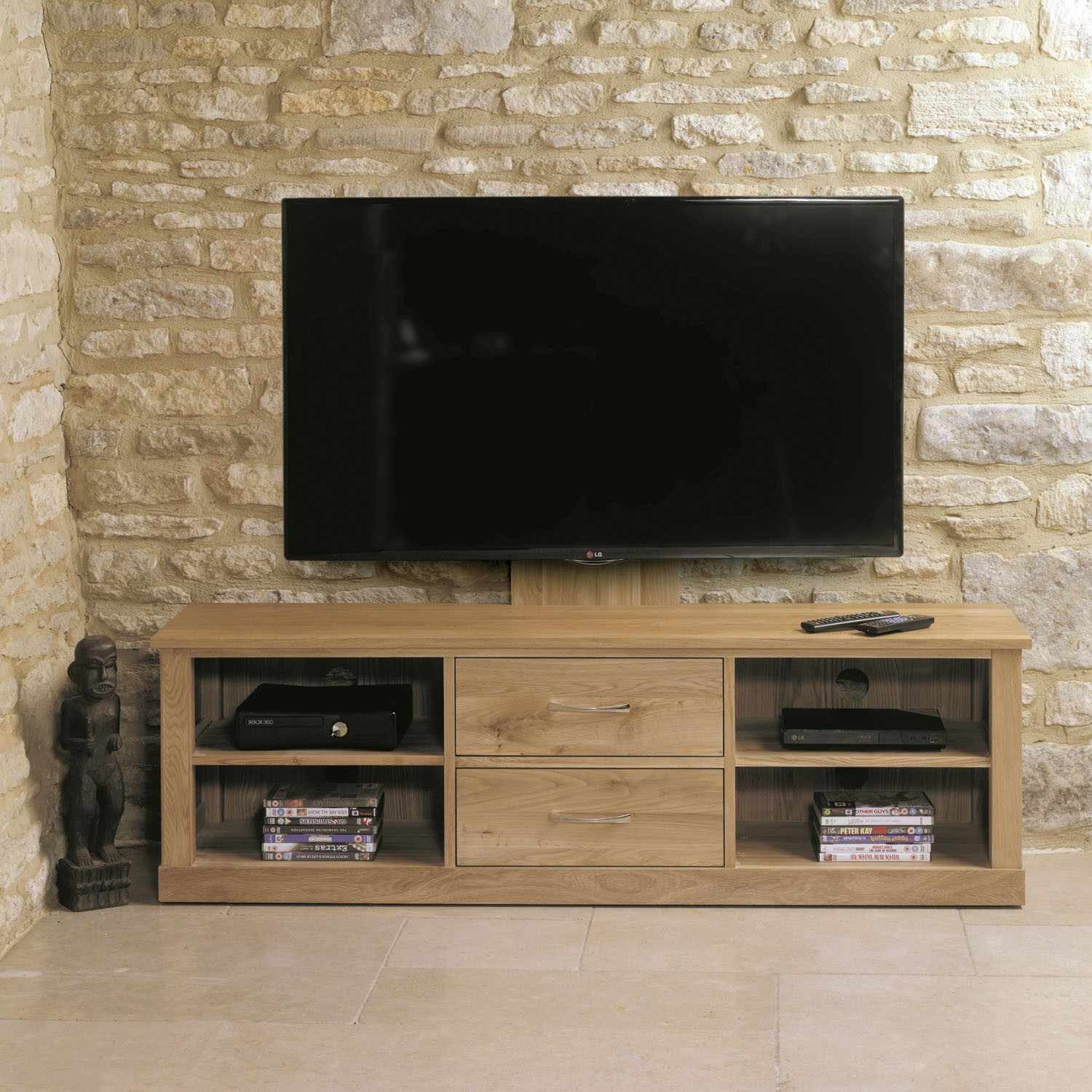 Mobel Oak Mounted Widescreen Television Cabinet Tv Stands Living Room Hallowood