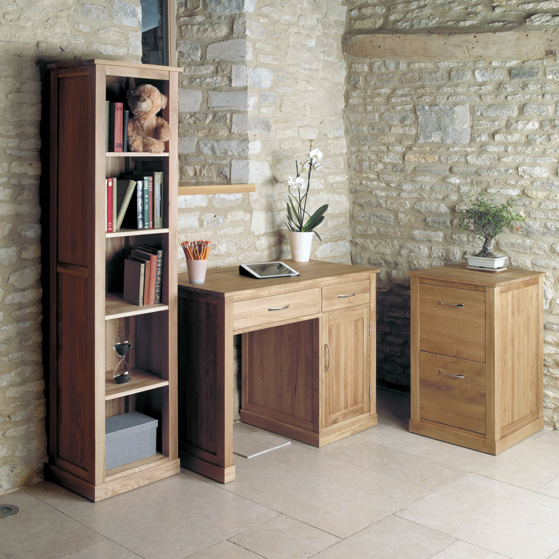 mobel oak narrow bookcase solid h