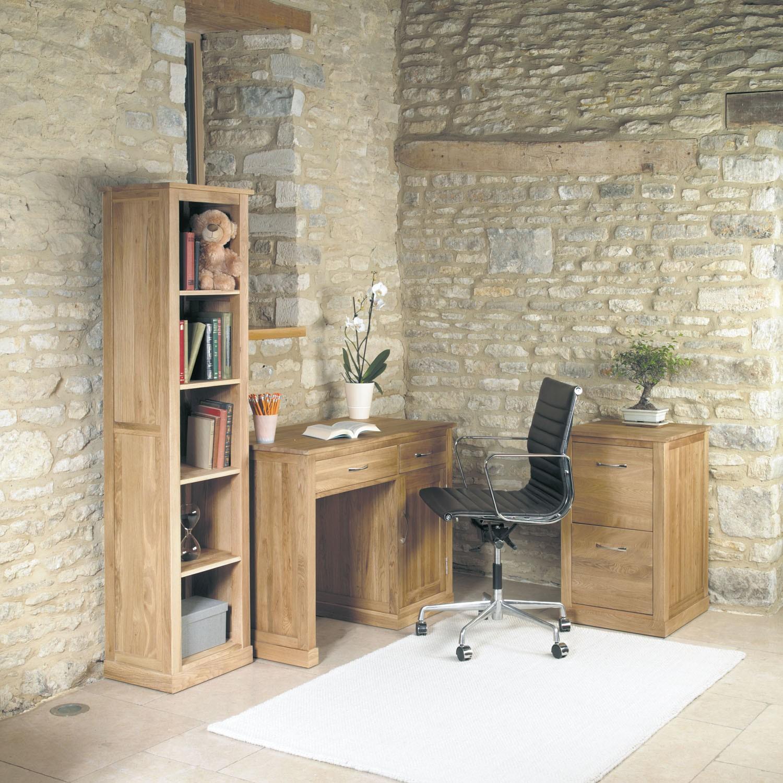 mobel oak single pedestal computer desk