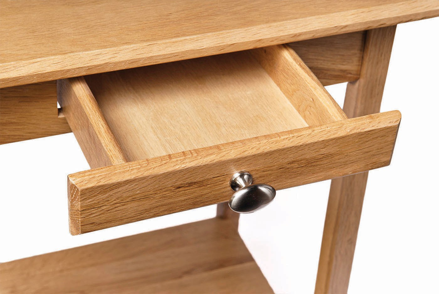 2b5fcf64932a Small Camberley Light Oak Console Table With Drawers