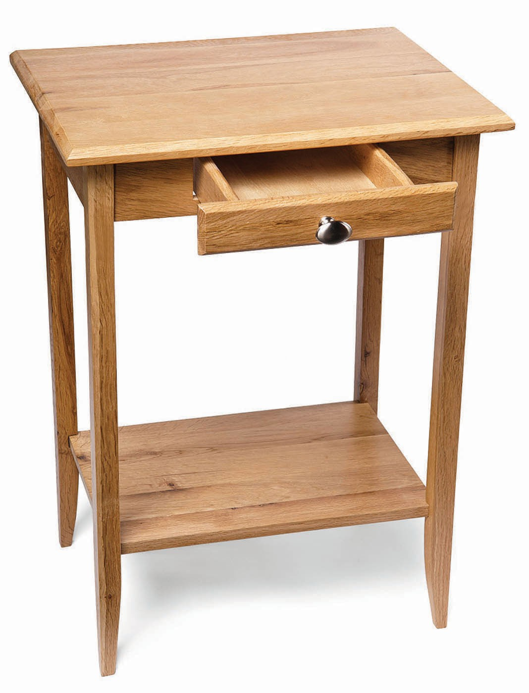 Small camberley light oak console table with drawers for Small console table with drawer