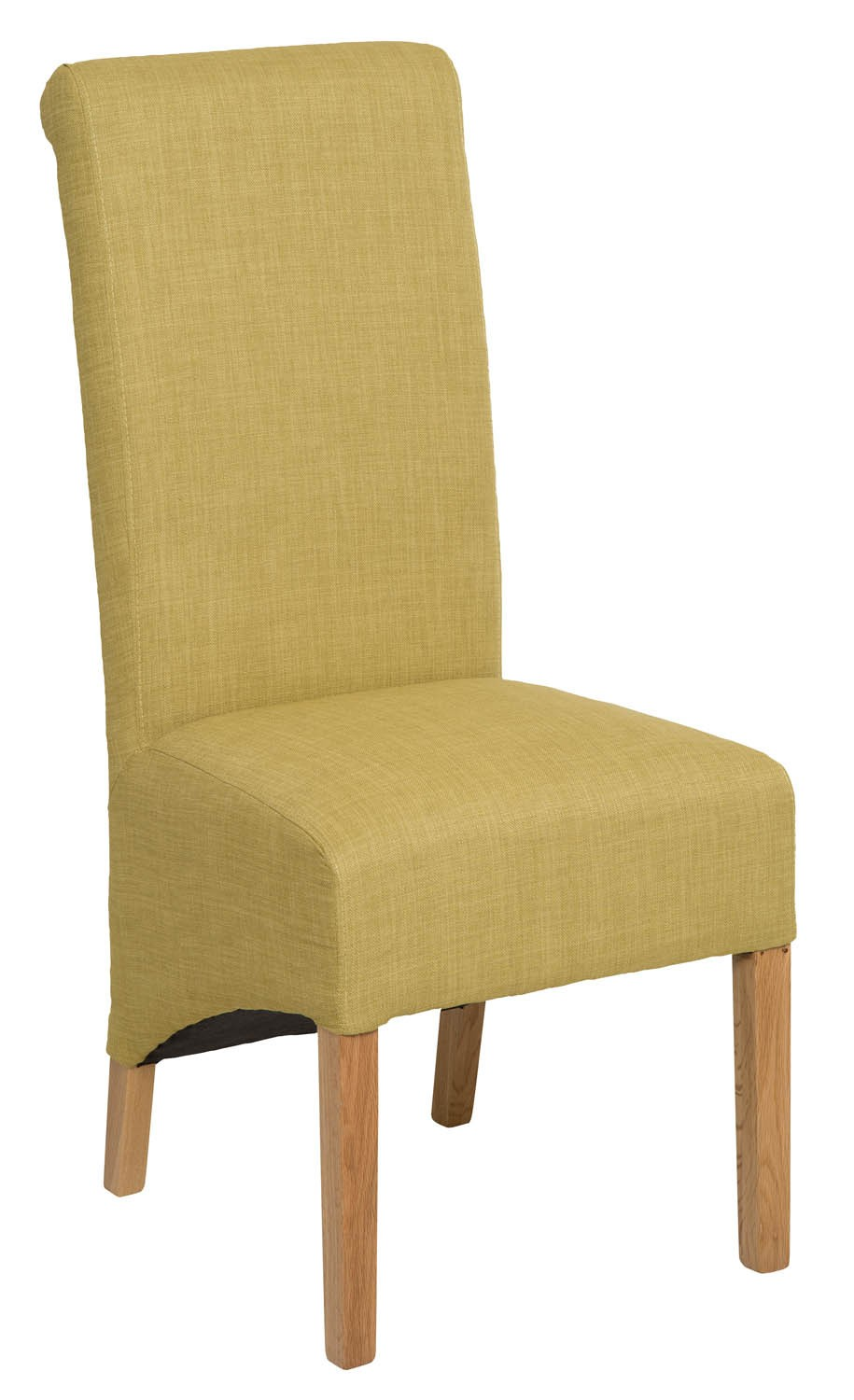 Roll Top Lime Fabric Dining Chair 106cm Hallowood