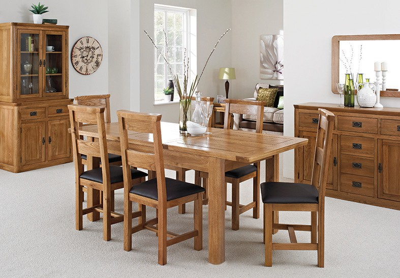 London Dark Oak Extending Dining Table