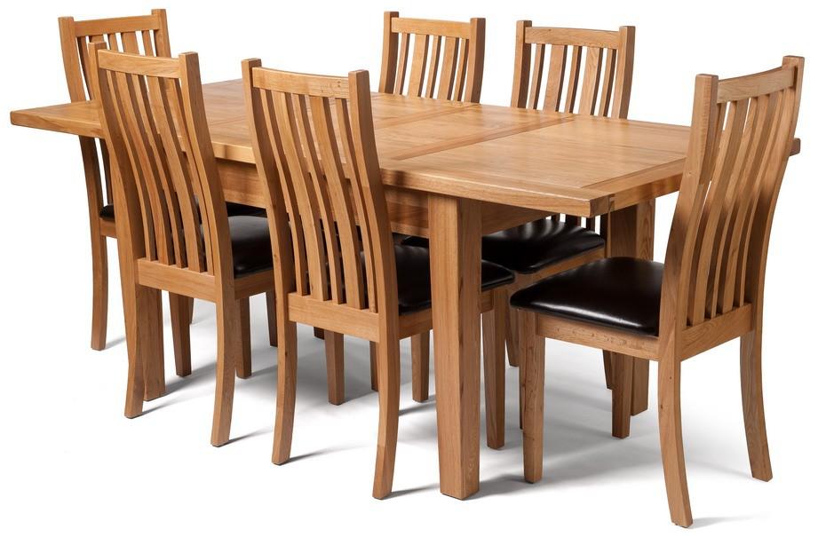 Light Oak Large Extending Table