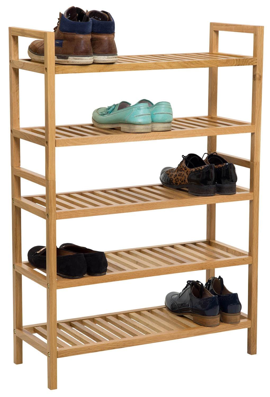 c717d65f39 Wide Shoe Rack - Waverly Oak 2 Tier Stackable Shoe Rack | Hallowood