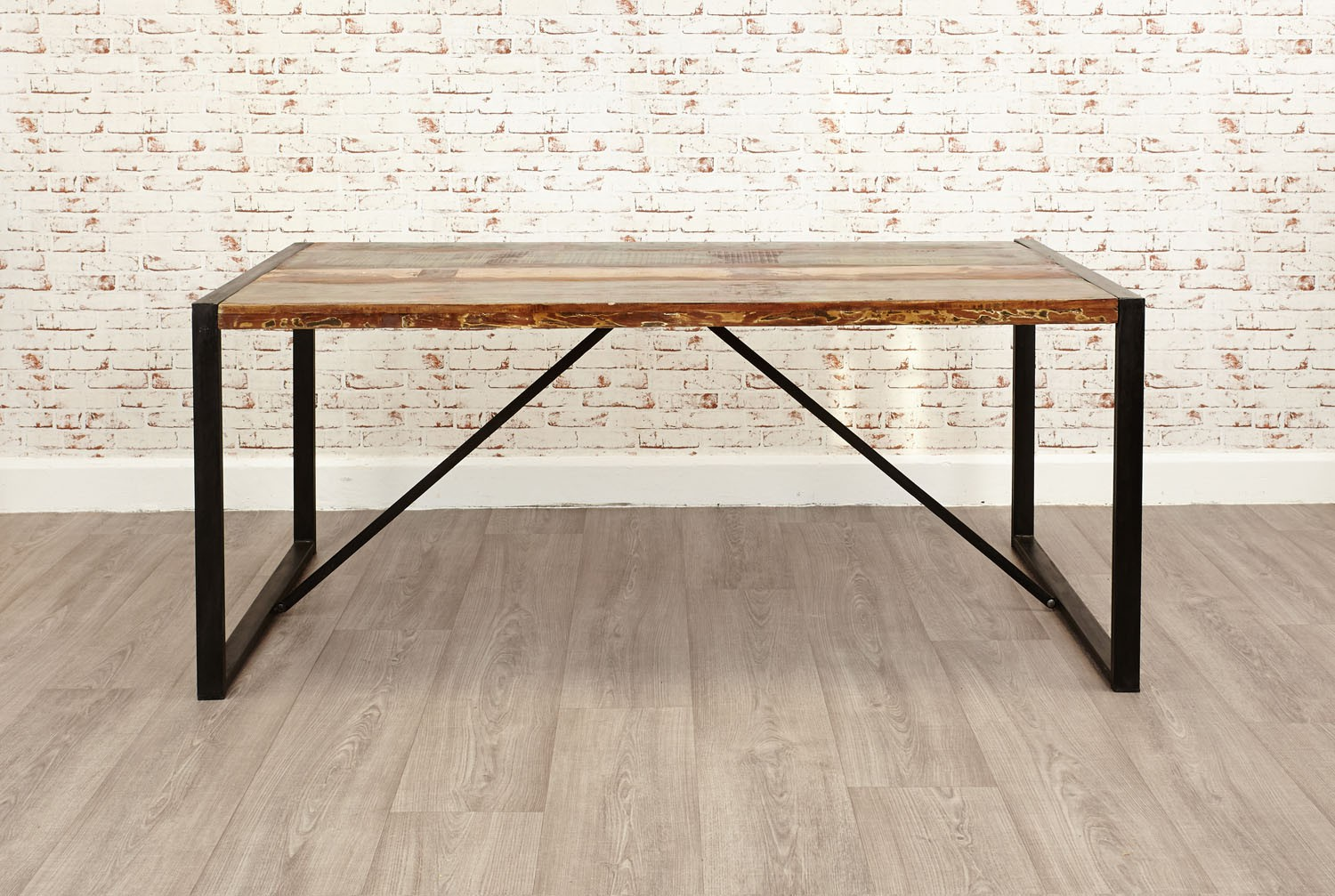 Urban chic dining table large urban chic reclaimed wood for Large dining table