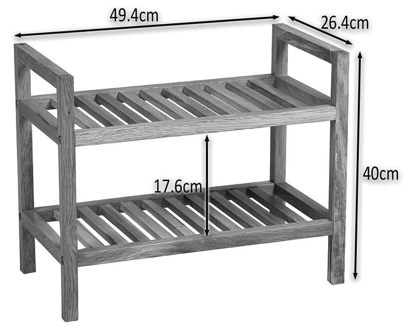 narrow shoe rack Small and Narrow 2 Tier Modern Shoe Rack   Waverly Oak | Hallowood narrow shoe rack