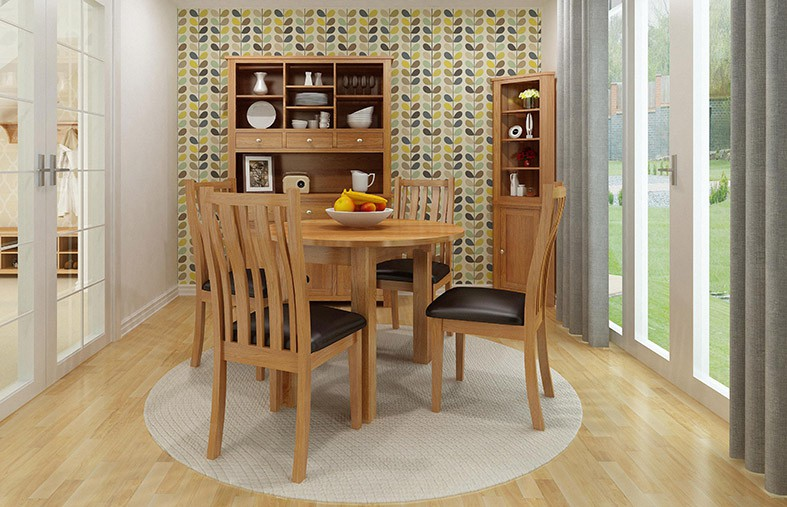Waverly Oak Small Square Extending Dining Table Hallowood