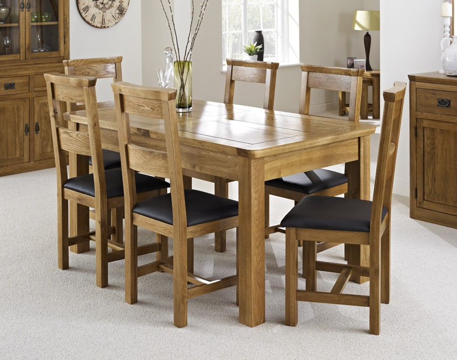 Awe Inspiring London Dark Oak Extending Dining Table With Six Chairs Home Interior And Landscaping Oversignezvosmurscom
