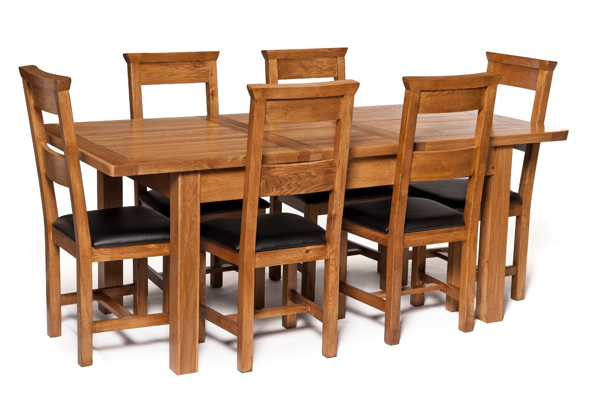 London Dark Oak Extending Dining Table with Six Chairs  : zr111plus6chairssn08 from www.hallowood.co.uk size 1162 x 778 jpeg 168kB