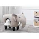 Elephant Stool with Cat Hole