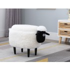 Sheep Storage Stool (White)