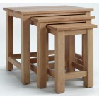 Camberley Oak Large Nest of 3 Tables