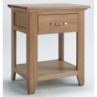 Camberley Oak Bedside / Lamp Table