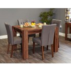 Shiro Walnut Dining Table (4 Seater)