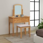 Hereford Oak Dressing Table Set with Stool and Mirror