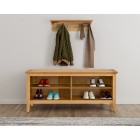 Hereford Oak Shoe Bench