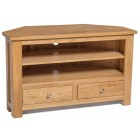 Waverly Oak 2 Drawer Corner TV Unit