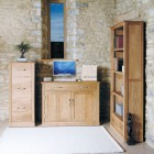 Mobel Oak Hidden Home Office Desk