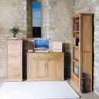 Mobel Oak Hidden Home Office Desk