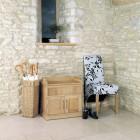 Mobel Oak Shoe Bench With Hidden Storage