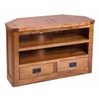 London Oak Small Corner TV Unit