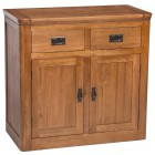 London Dark Oak 2 Door 2 Drawer Sideboard