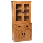 London Dark Oak Small Dresser / Sideboard with Top