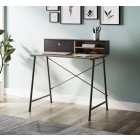 Dudley Metal Desk with Drawer and Shelf