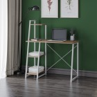 Dudley Metal Desk with Shelves